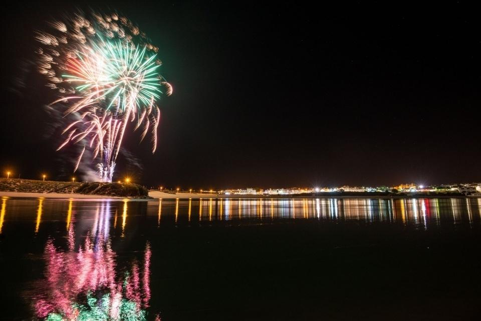 Fogo de artificio em Vila Nova de Milfontes