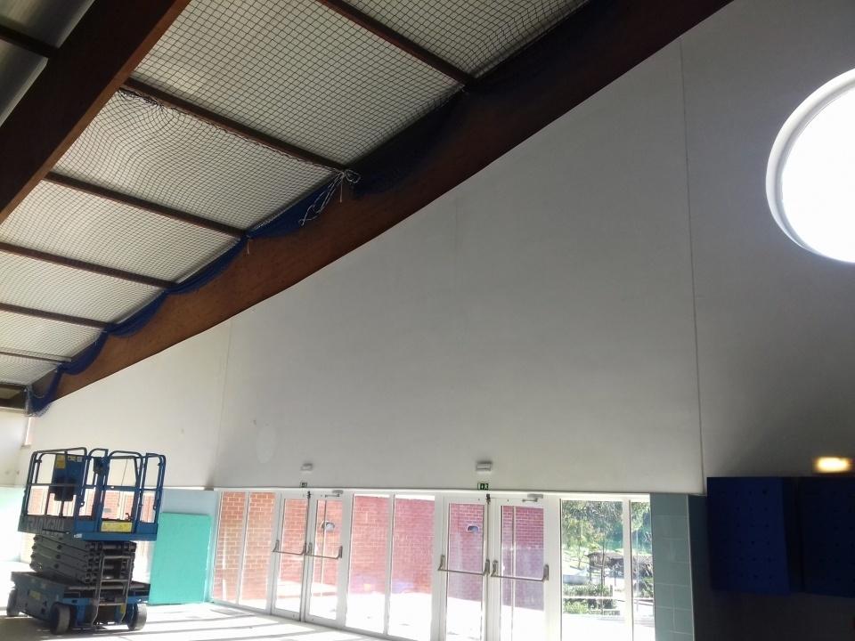 Reparação da cobertura da Piscina Municipal de Santiago do Cacém