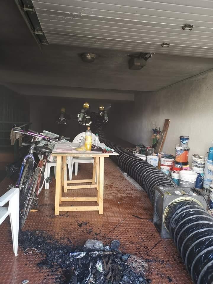 Incêndio em empreendimento em Soltroia