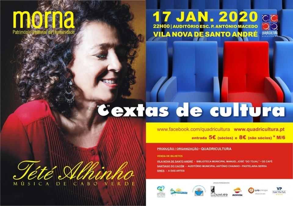 Cartaz de Tété Alhinho nas Cextas de Cultura 2019