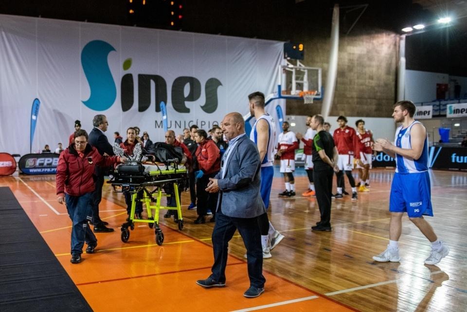 Acidente do basquetebolista Betinho Gomes (Benfica)