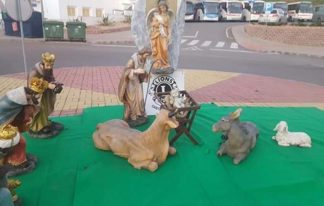 Presépio vandalizado em Santiago do Cacém