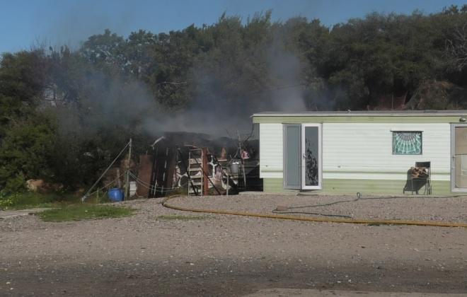 Incêndio deixou casal de idosos desalojado em Sines