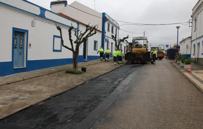 Município de Alcácer do Sal melhora pavimentos em Santa Susana