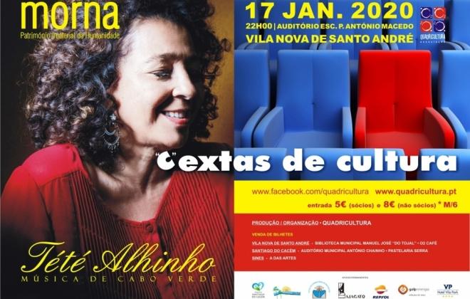 Tété Alhinho atua esta noite em Vila Nova de Santo André nas Cextas de Cultura