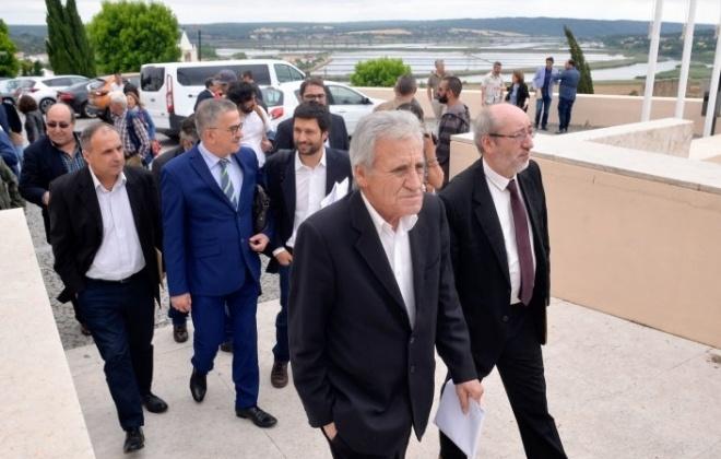 Jerónimo de Sousa visita obras municipais em Alcácer do Sal no dia 28 de janeiro