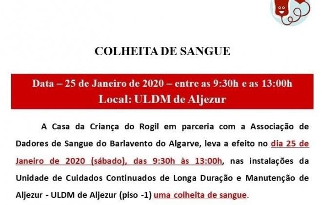 Neste sábado realiza-se uma colheita de Sangue em Aljezur