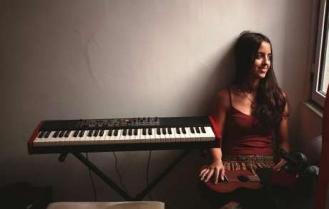 Catarina Munhá no arranque dos concertos das Oficinas de Formação e Animação Cultural de Aljustrel