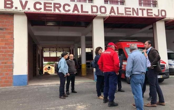 Obras no quartel dos Bombeiros de Cercal do Alentejo são inauguradas em julho