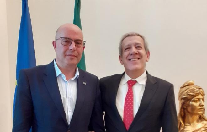 Presidente da câmara de Aljezur, foi recebido pelo Secretário de Estado Adjunto e da Administração Interna
