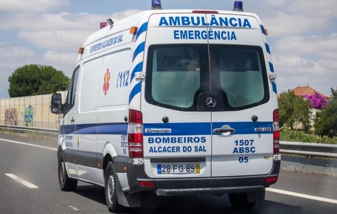 Despiste provoca três feridos perto da Barrosinha em Alcácer do Sal