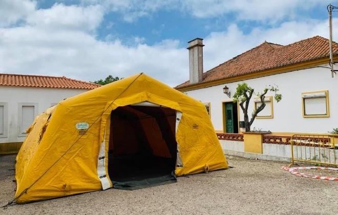 Tenda de Triagem do COVID-19 no Centro de Saúde de Santiago do Cacém