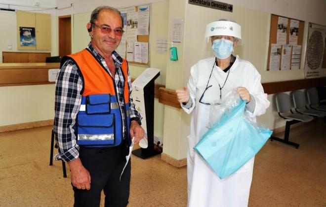 Grândola entrega equipamentos de proteção individual e soluções desinfetantes