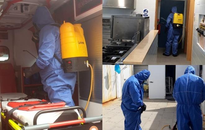 Município de Sines realiza ações de desinfecção na Cercisiago, Gralha, Bombeiros e Santa Casa da Misericórdia