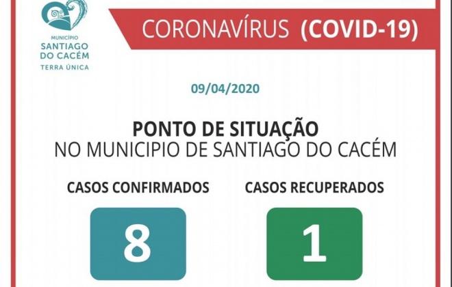 Santiago do Cacém anuncia o primeiro caso recuperado de COVID-19