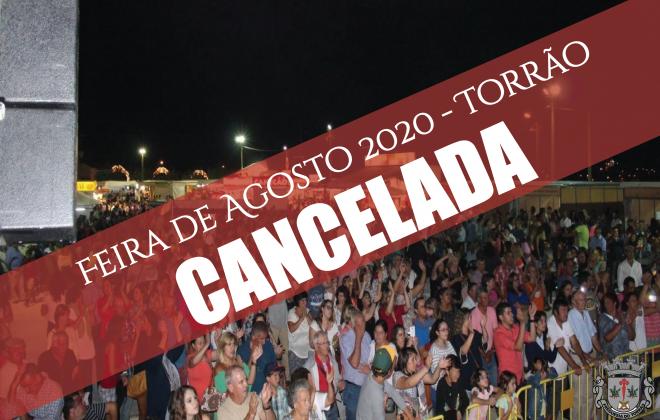 Feira de Agosto no Torrão foi cancelada