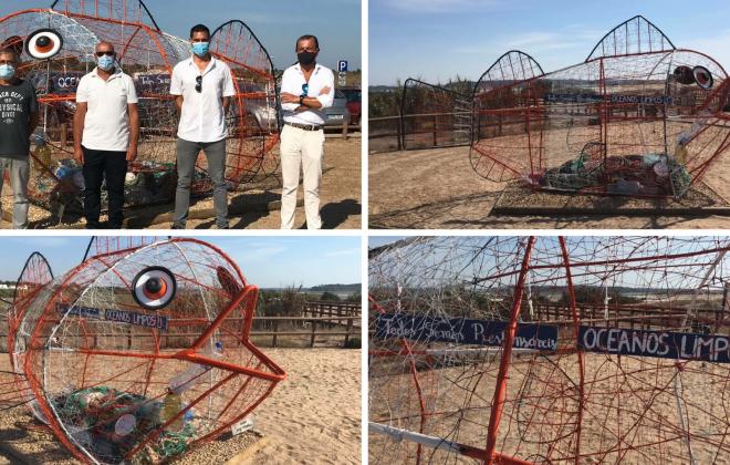 Escultura na Costa de Santo André alerta para a proteção dos nossos oceanos