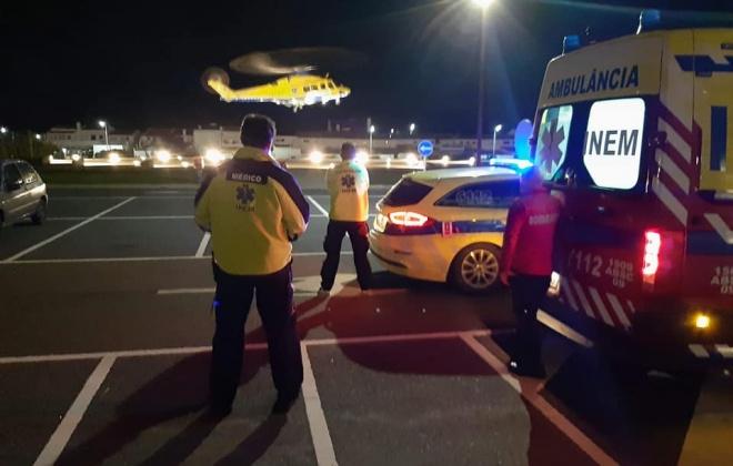 Ferido grave transportado pelo INEM do heliporto da APS para Lisboa