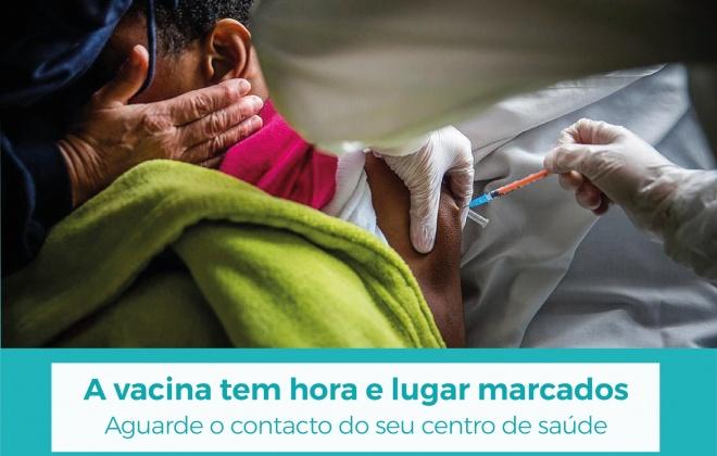 Vacinação tem hora e lugar marcado evite ajuntamentos nos Centros de Vacinação