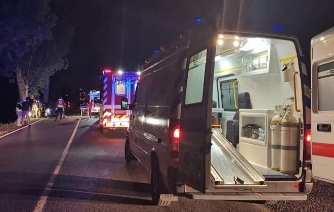 Colisão provoca três feridos em Santa Margarida do Sado