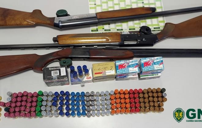 GNR apreendeu três armas de fogo em Santiago do Cacém