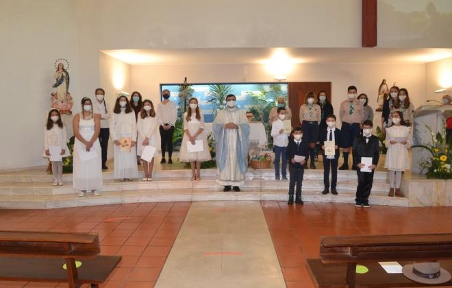 Crianças fizeram a Primeira Comunhão em Vila Nova de Santo André